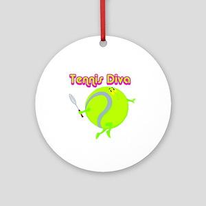 Tennis Ball Diva Ornament (Round)