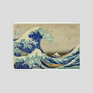 The Great Wave off Kanagawa; Vintage Art 5'x7'Area