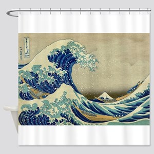 The Great Wave Off Kanagawa; Shower Curtain