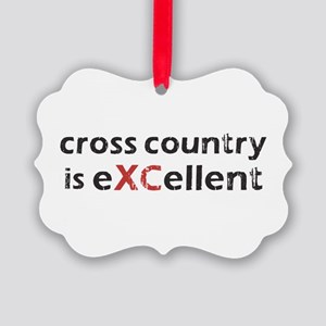 Cross Country eXCellent Picture Ornament