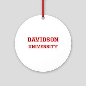 DAVIDSON UNIVERSITY Ornament (Round)