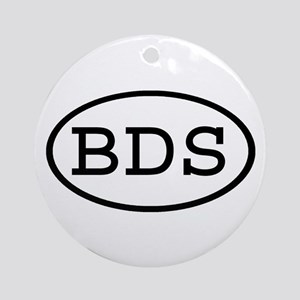 BDS Oval Ornament (Round)
