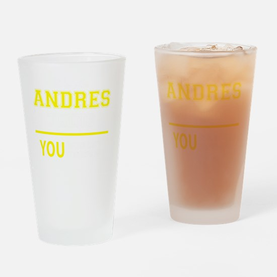 Funny Andres Drinking Glass