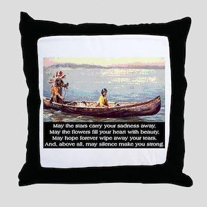 THE WISDOM OF SILENCE Throw Pillow