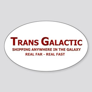 Trans Galactic Oval Sticker