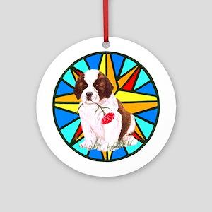 St. Bernard Puppy Christmas Ornament