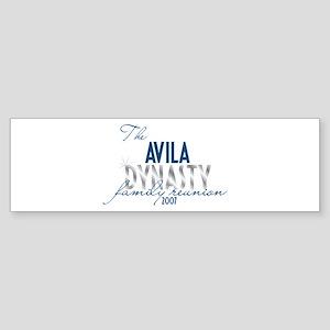 AVILA dynasty Bumper Sticker
