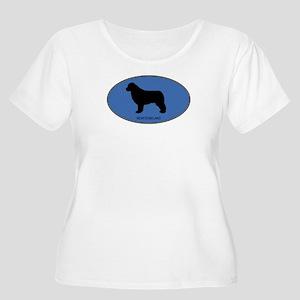 Newfoundland (oval-blue) Women's Plus Size Scoop N