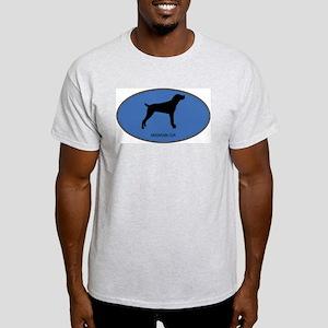 Mountain Cur (oval-blue) Light T-Shirt