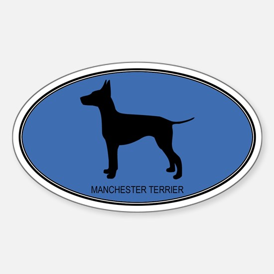 Manchester Terrier (oval-blue Oval Decal