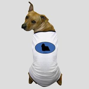 Komondor (oval-blue) Dog T-Shirt