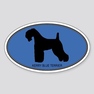 Kerry Blue Terrier (oval-blue Oval Sticker