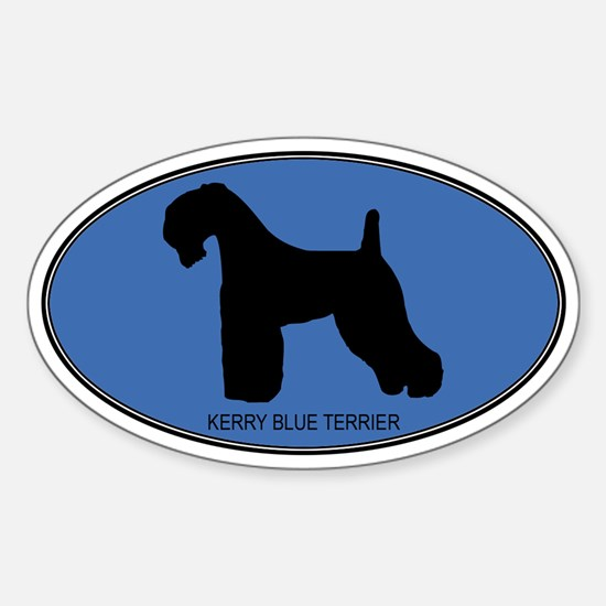 Kerry Blue Terrier (oval-blue Oval Decal