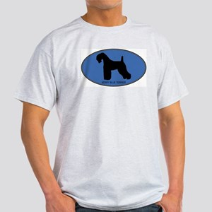 Kerry Blue Terrier (oval-blue Light T-Shirt