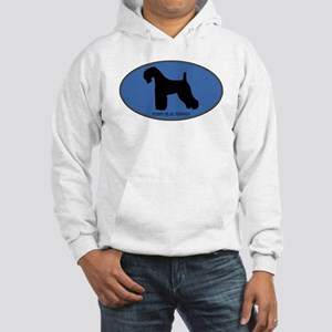 Kerry Blue Terrier (oval-blue Hooded Sweatshirt