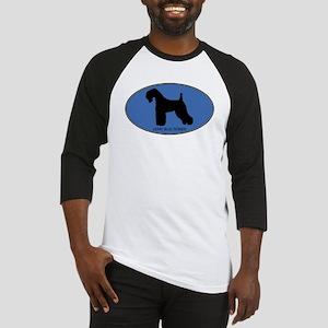Kerry Blue Terrier (oval-blue Baseball Jersey