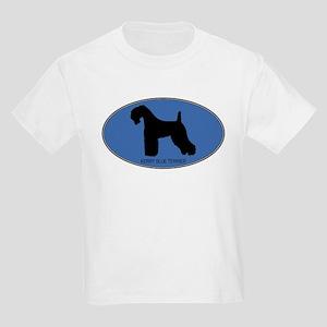Kerry Blue Terrier (oval-blue Kids Light T-Shirt