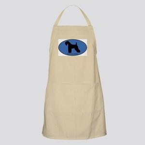 Kerry Blue Terrier (oval-blue BBQ Apron