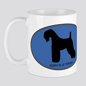 Kerry Blue Terrier (oval-blue Mug