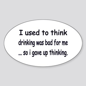 drinking Oval Sticker