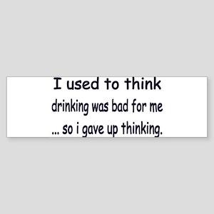 drinking Bumper Sticker