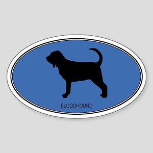 Bloodhound (oval-blue) Oval Sticker