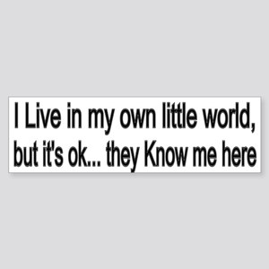 little world Bumper Sticker
