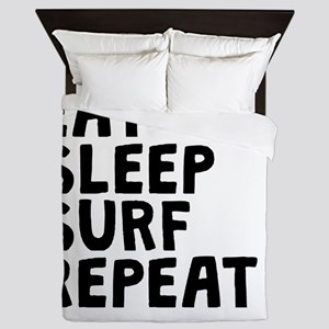 Eat Sleep Surf Repeat Queen Duvet