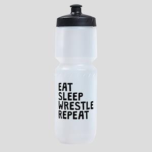 Eat Sleep Wrestle Repeat Sports Bottle