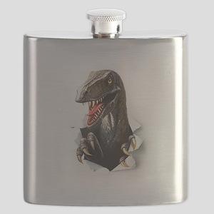 Velociraptor Dinosaur Flask