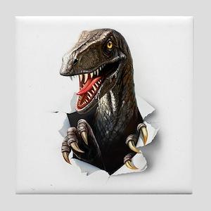Velociraptor Dinosaur Tile Coaster