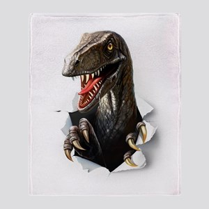 Velociraptor Dinosaur Throw Blanket