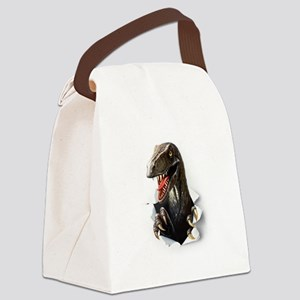 Velociraptor Dinosaur Canvas Lunch Bag