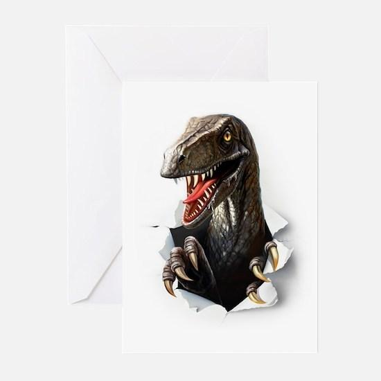 Velociraptor Dinosaur Greeting Cards (Pk of 10)