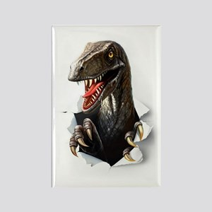 Velociraptor Dinosaur Rectangle Magnet