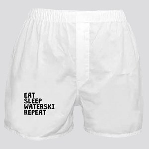 Eat Sleep Waterski Repeat Boxer Shorts