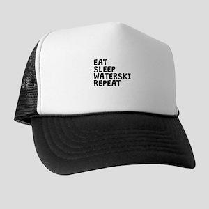 Eat Sleep Waterski Repeat Trucker Hat