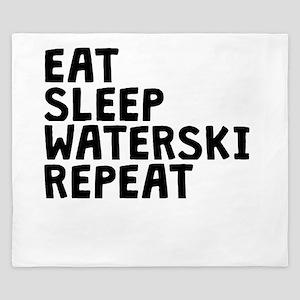 Eat Sleep Waterski Repeat King Duvet
