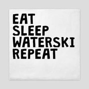 Eat Sleep Waterski Repeat Queen Duvet