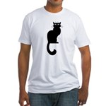 Cat Lover Cute Fat Cat Fitted T-Shirt