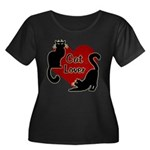 Fat Cat Women's Plus Size Scoop Neck Dark T-Shirt