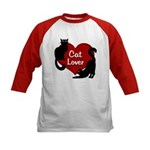 Fat Cat & Cat Lover Kids Baseball Tee