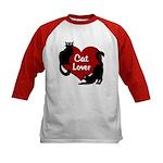 Fat Cat & Cat Lover Kids Baseball Tee