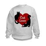 Fat Cat & Cat Lover Kids Sweatshirt