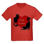 Fat Cat & Cat Lover Kids Dark T-Shirt