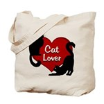Fat Cat & Cat Lover Tote Bag