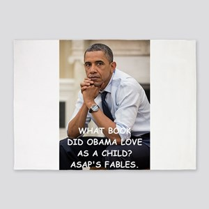 anti obama joke 5'x7'Area Rug