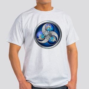 Blue Norse Triple Dragons Light T-Shirt