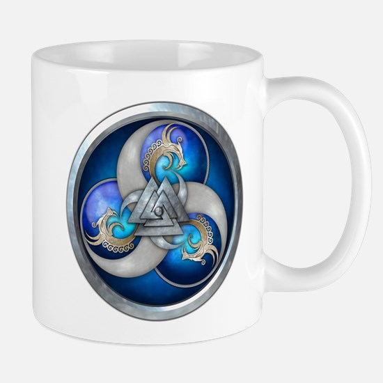 Blue Norse Triple Dragons Mug