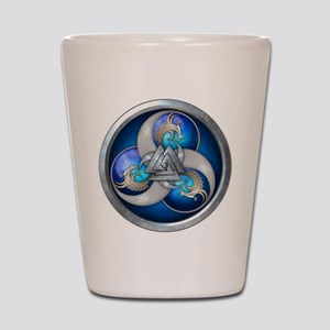 Blue Norse Triple Dragons Shot Glass